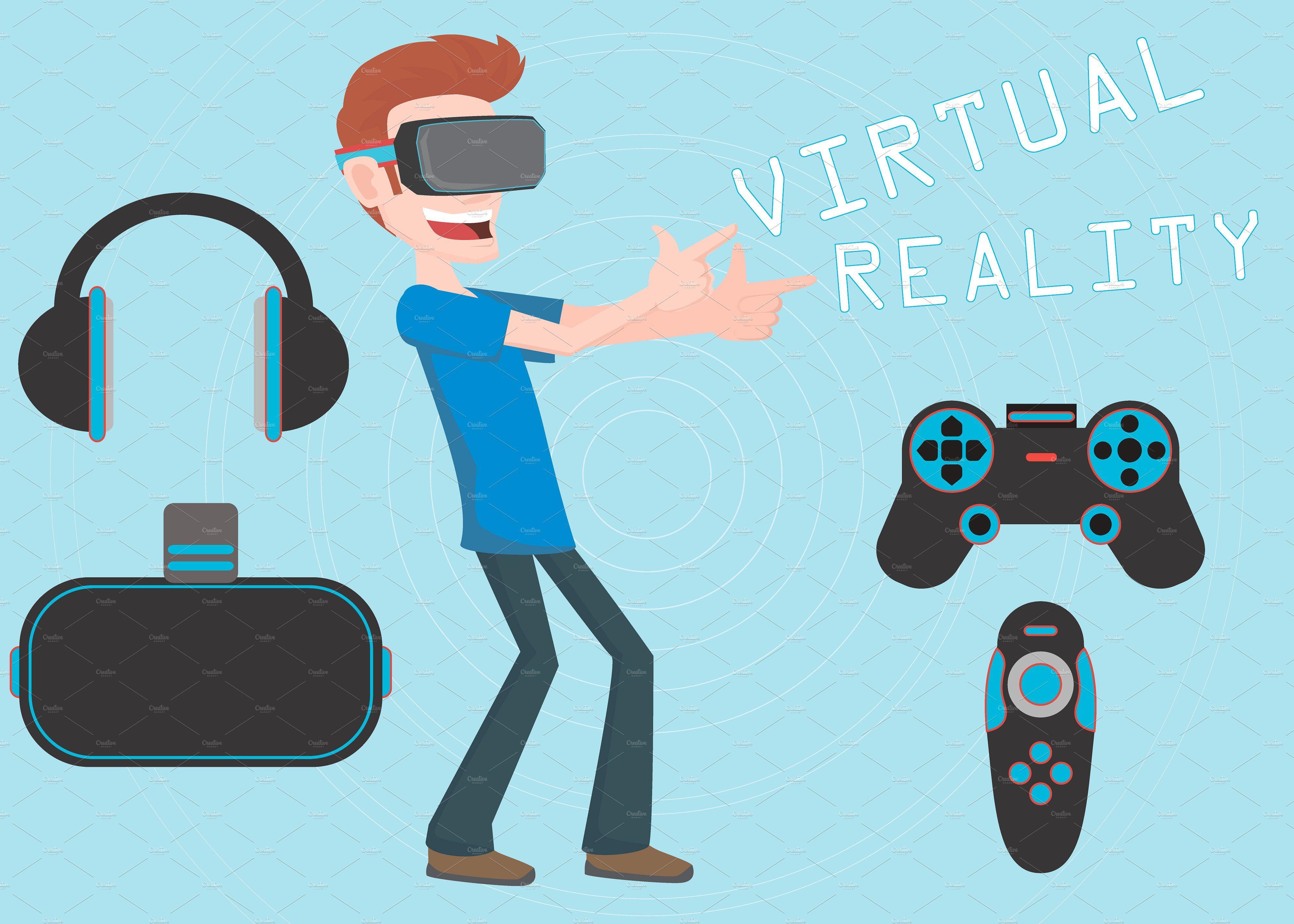 Virtual Reality Vector Elements Virtual reality