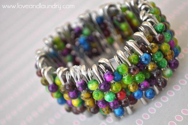 Safety Pin & Bead Bracelet - Kid Craft Contributor - Sugar Bee Crafts