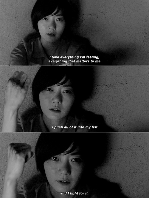 Sun Bak: I take everything I'm feeling, everything that matters to me I push all of it into my fist and I fight for it. #sense8