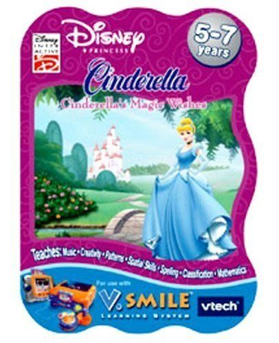 VTech - V.Smile - Cinderella: Cinderella's Magic Wishes by V Tech. $32.99. Amazon.com                Though the original Disney movie was released some time ago, the appeal of  Cinderella has never really wavered. In this entertaining and educational game and activity set for use only with V-Tech's V Smile line of electronic toys, Cinderella must overcome a series of brainy challenges to rise to her true status of Princess. As a reward for helping her arrive at such a roy...