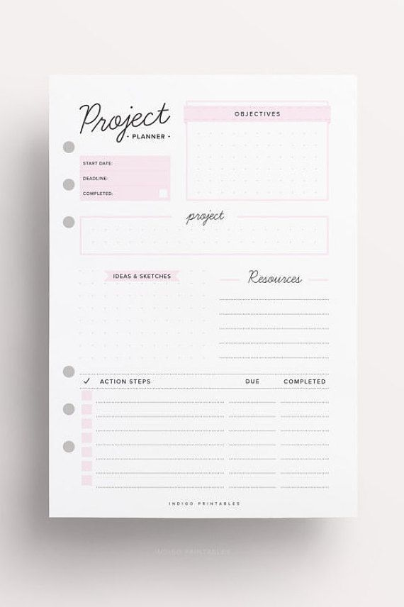 Project Planner Homework Planner Assignment Planner To Do List