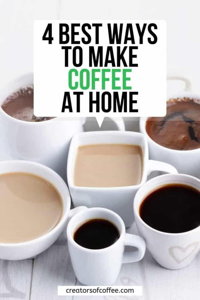 4 Best Coffee Brewing Methods For Great Tasting Coffee At Home - Coffee Ideas - #Brewing #Coffee #Great #Home #Ideas #METHODS #Tasting #espressoathome