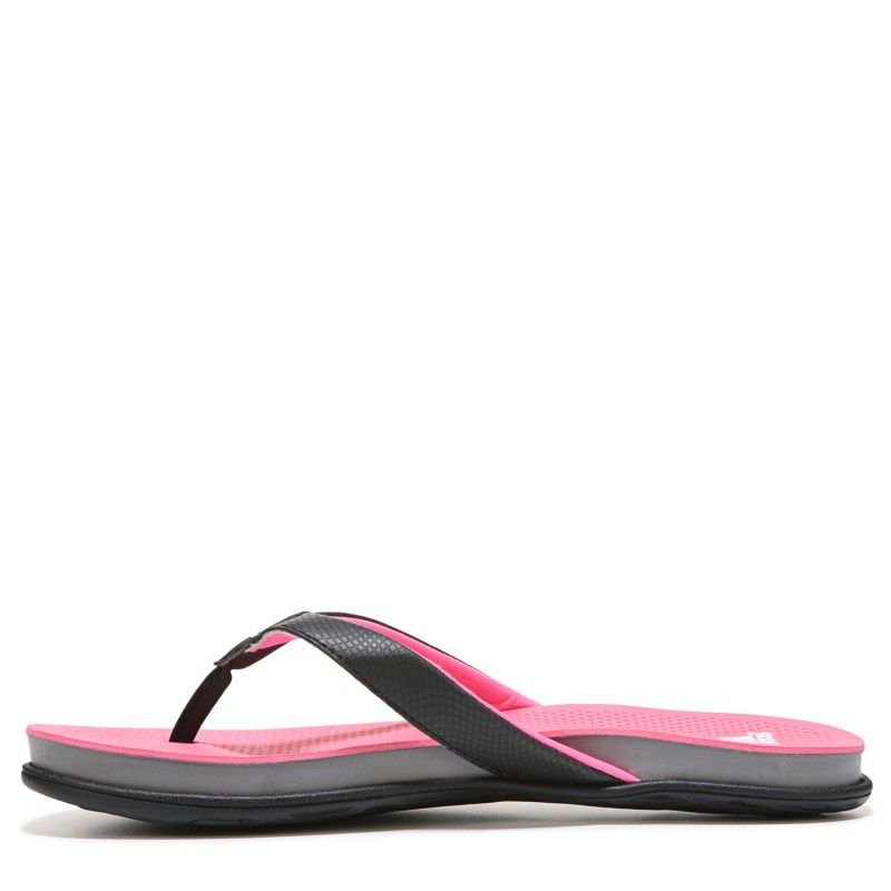 3c6a41af527 Adidas Women s Supercloud Plus Flip Flop Shoes (Black Pink Grey) - 10.0 M