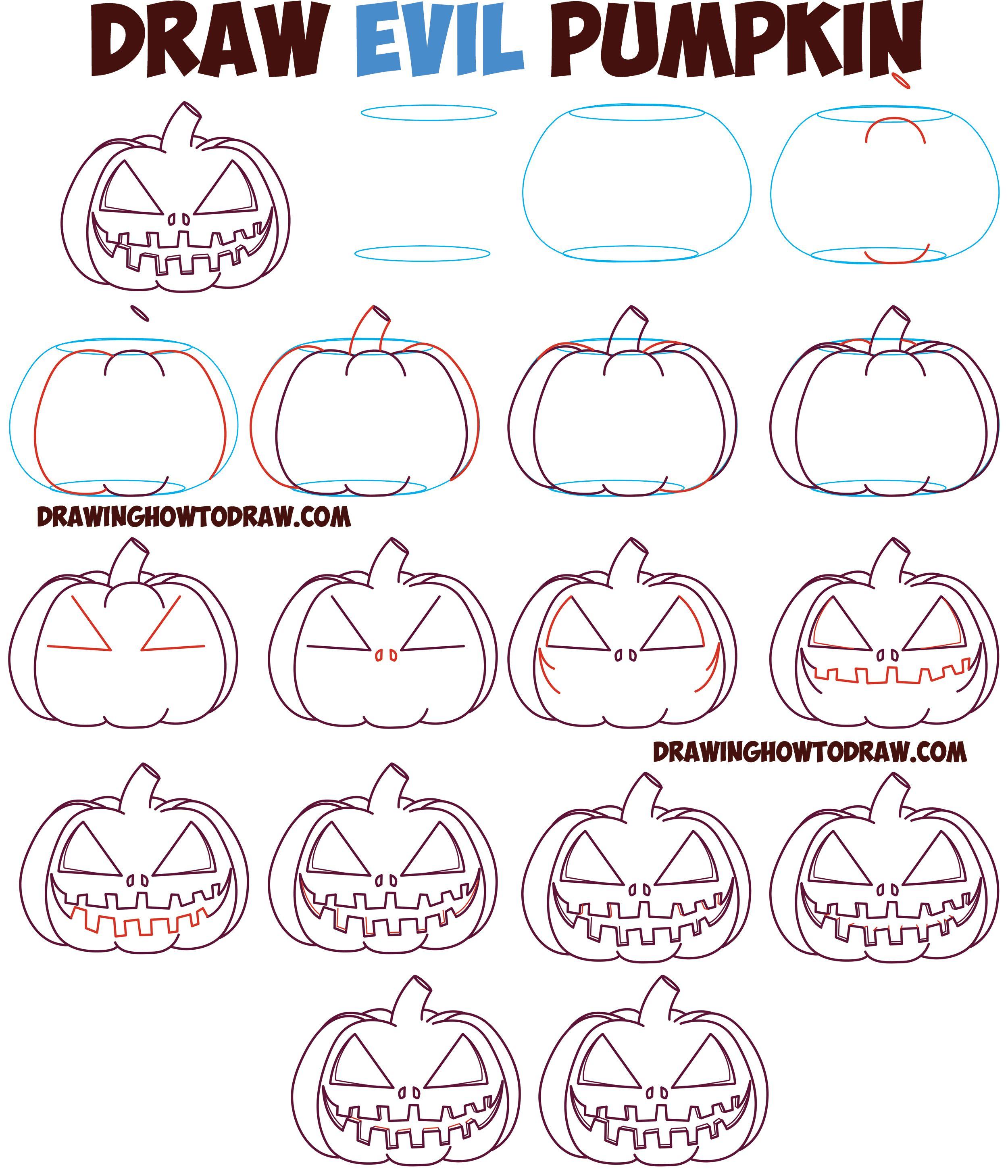 Uncategorized How Do You Draw A Pumpkin how to draw cartoon pumpkin jack olantern evil angry zipper mouth