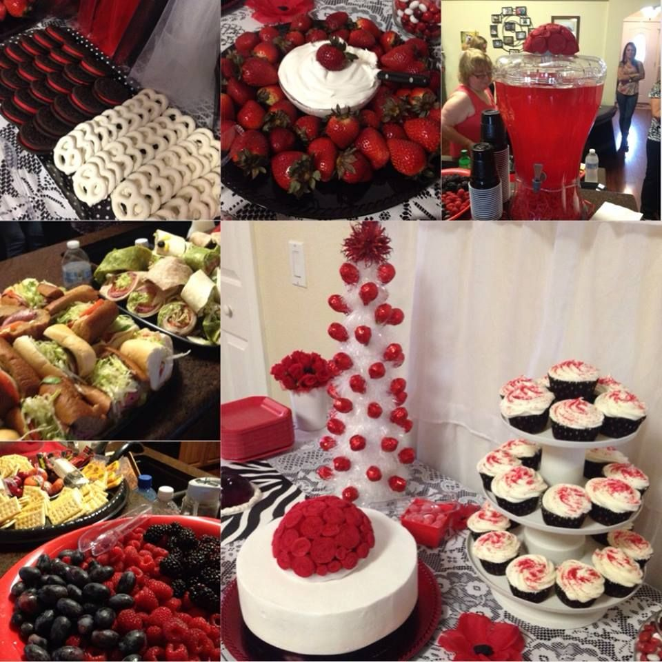 My beautiful baby shower theme red white and black