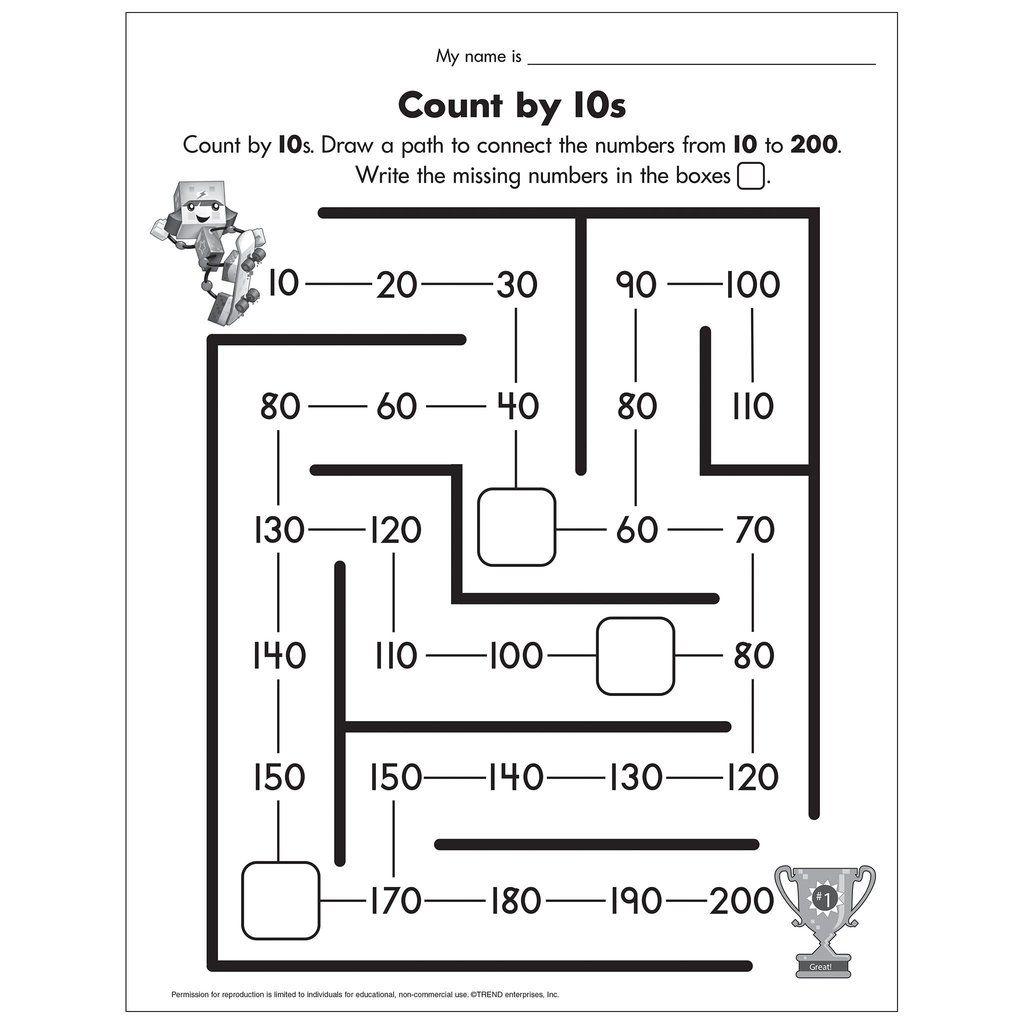 Count By 10s Worksheet Free Printable In