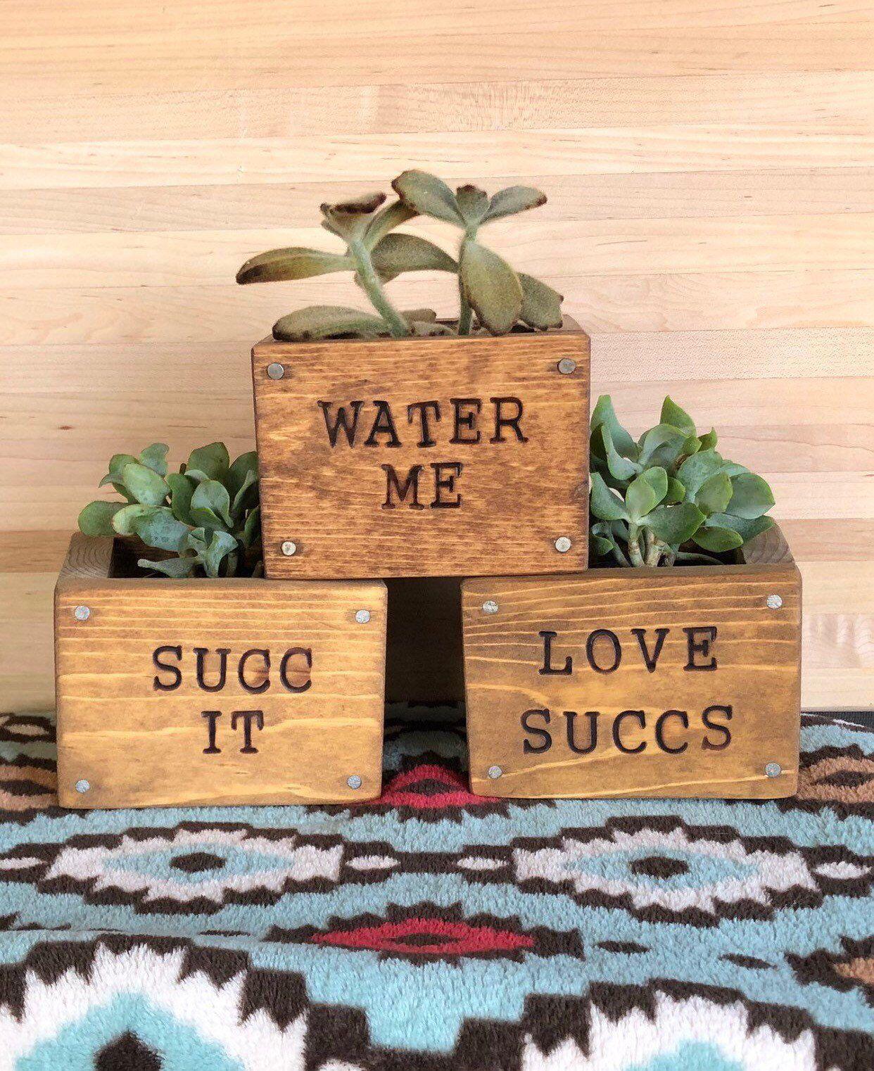 Planter Box Funny Planter Wooden Planter Box Garden Decor