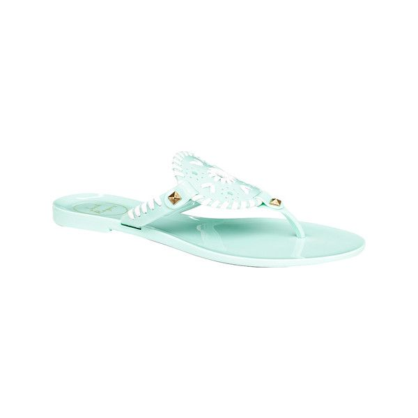 49adbd50a17a Women s Jack Rogers Georgica Jelly - Mint White Casual ( 49) ❤ liked on