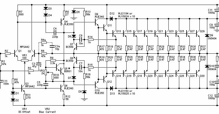 1500w power amplifier circuit diagram this is a very high