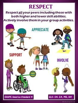 PE Poster: Diversity and Inclusion in Physical Education- Respect,  #Diversity #Education #EducationLevel #Inclusion #Physical #Poster #Respect