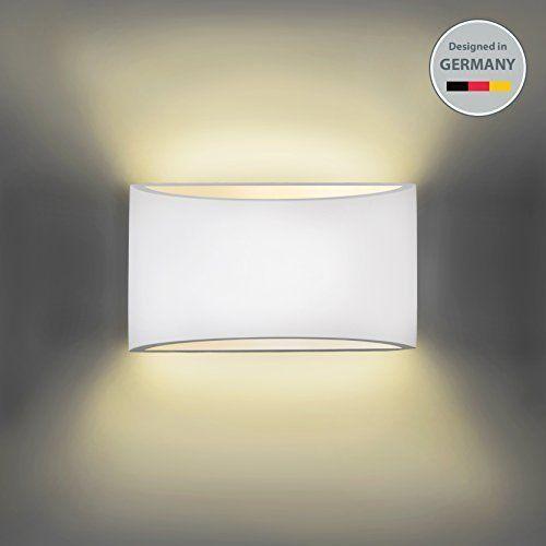 BKLicht Wandleuchte Wandlampe Gipslampe modern Design aus Gips