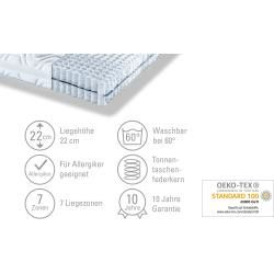 Photo of Artone barrel pocket spring mattress comfort W D ¦ white ¦ dimensions (cm): W: 100 H: 22