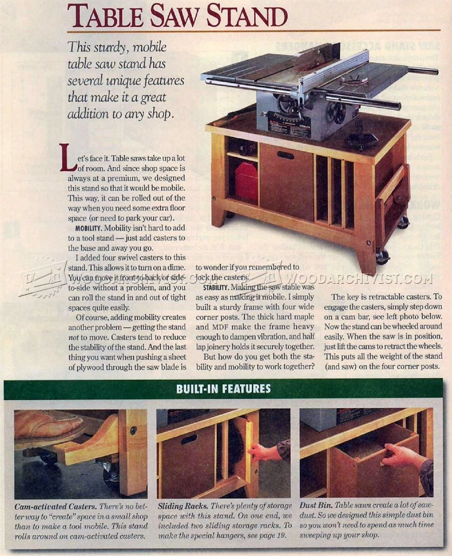 1578 table saw stand plans table saw table saw pinterest rh pinterest com Craftsman Table Saw Stand Plans Craftsman Table Saw Stand Plans