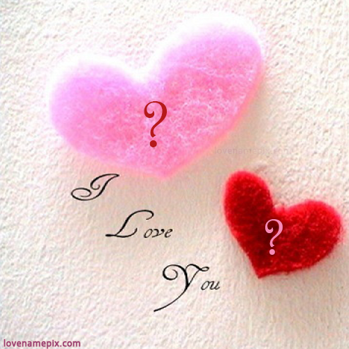 Write Couple Names On Lovely Cute Alphabets Hearts Love