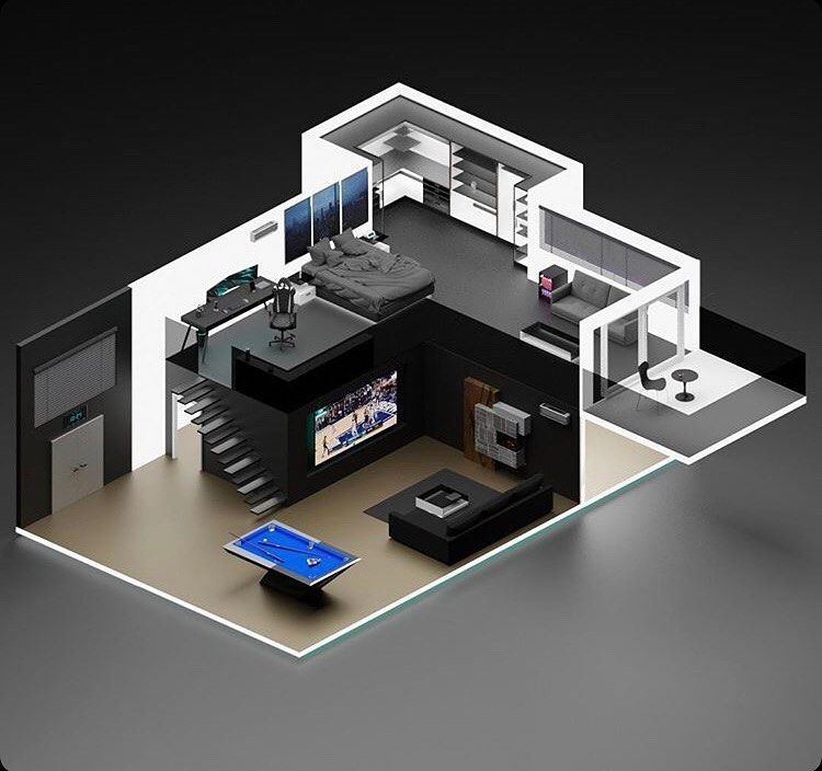 Daily Gaming Rooms Inspiration Modern Apar 3dsetupsprestige 3d Gaming Room Media Photos Small Game Rooms Room Setup Gaming Room Setup