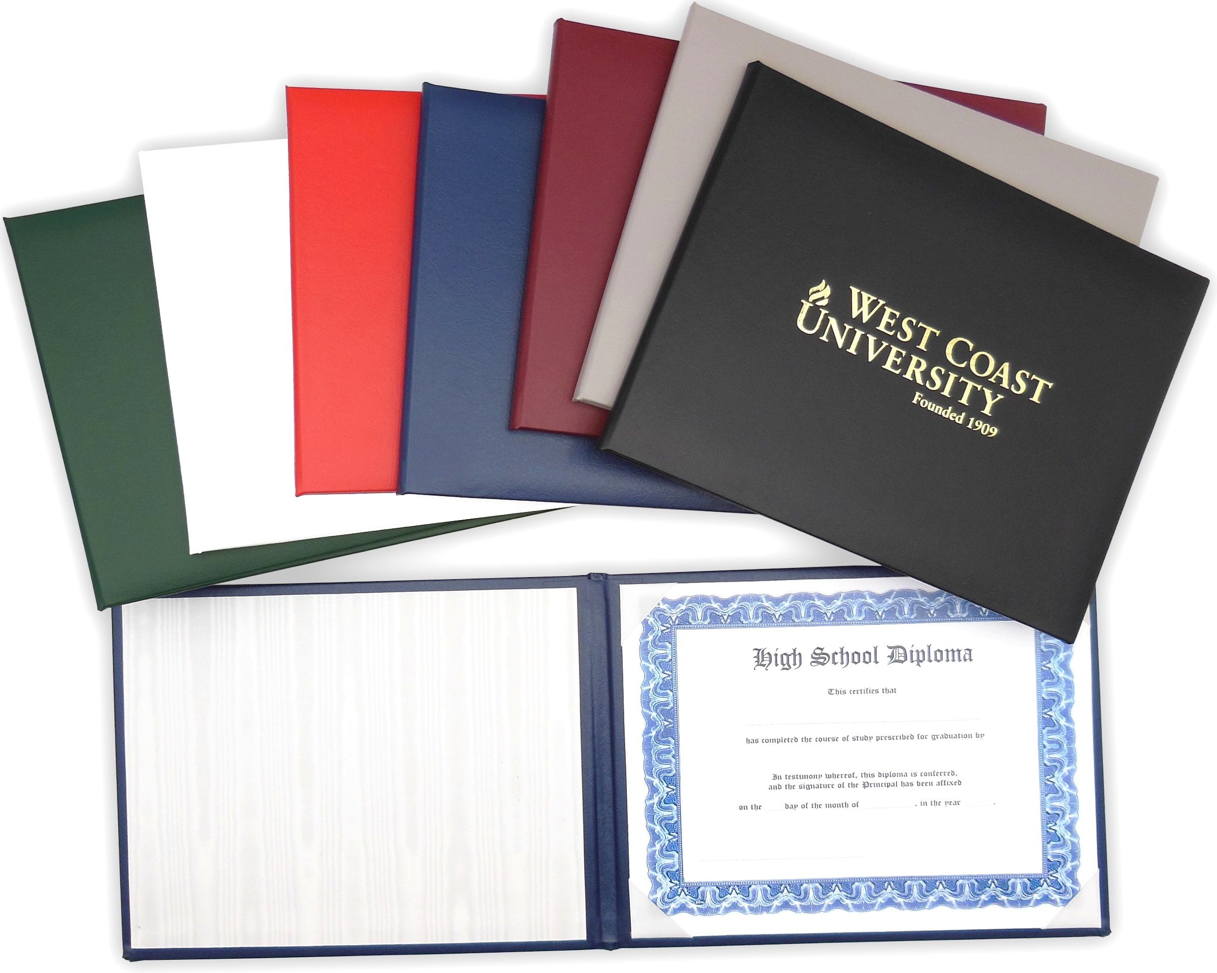 Usa Premium Quality Stationery Leather Diploma Holder Padded Diploma Cover Diploma Folder Certificate Holder School Stationery Diploma