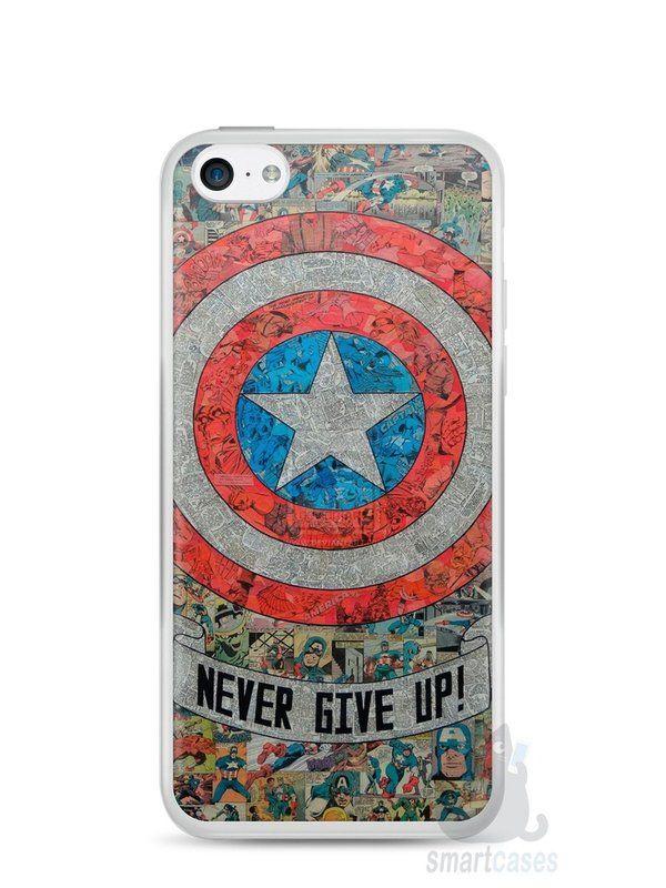 Capa Iphone 5C Capitão América Comic Books #3 - SmartCases - Acessórios para celulares e tablets :)