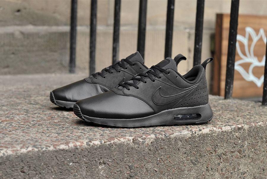 check out 30d17 6694d nike air max tavas noir cuir trainers