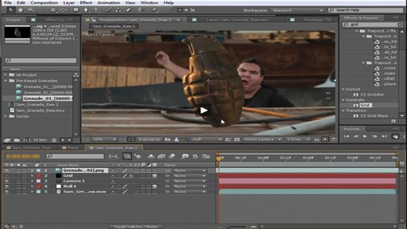 throw a grenade in after effects