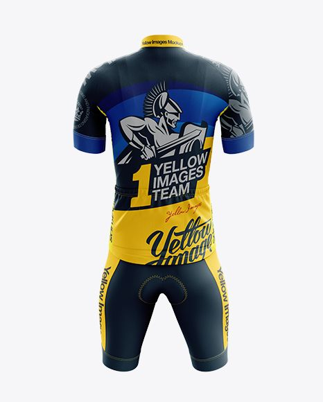 Download Men's Cycling Kit mockup (Back View) in Apparel Mockups on ...