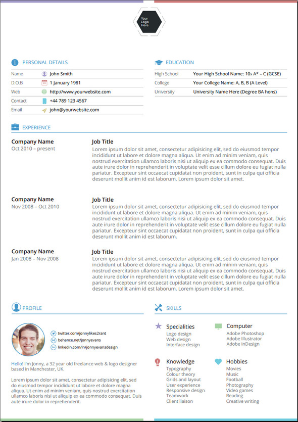 30+ Amazing Latest Free Resume Templates in PSD, Docx