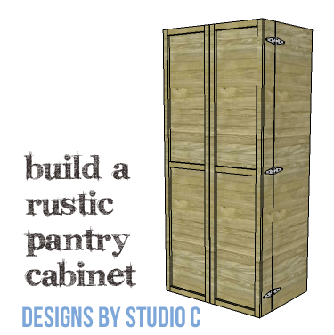 Diy Furniture Plans To Build A Rustic Pantry Cabinet Copy