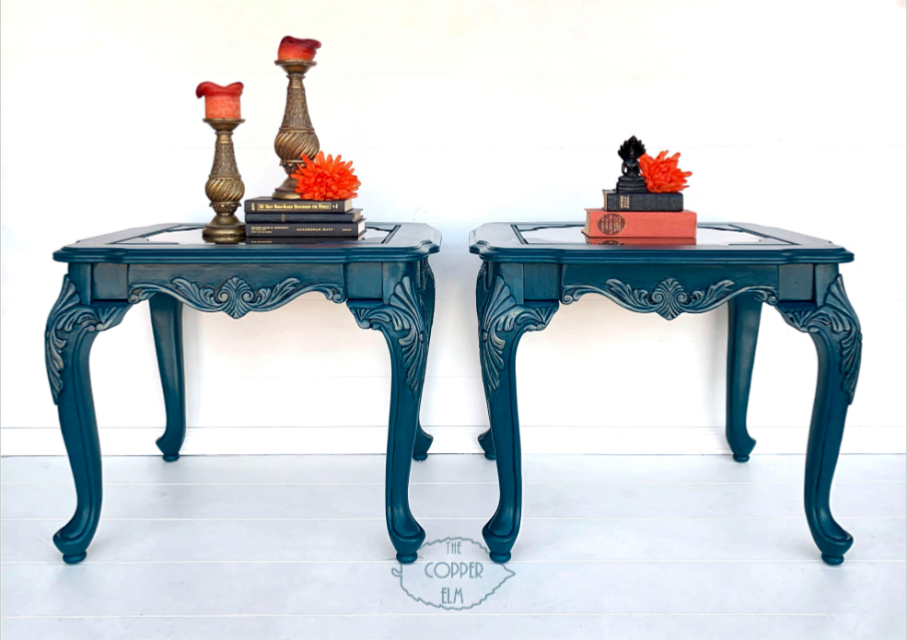 Best Prussian Blue End Tables In 2020 End Tables Shabby Chic 400 x 300