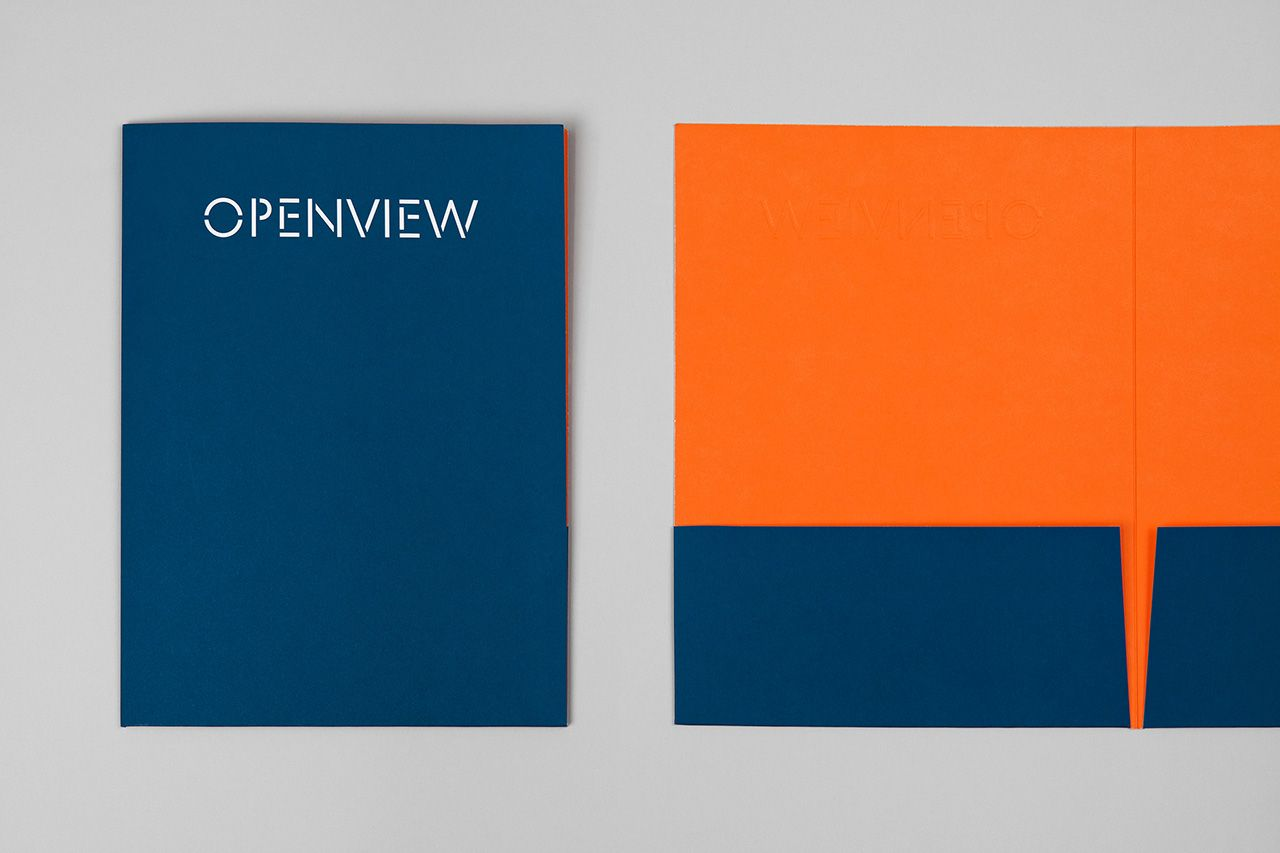 New brand identity for openview by pentagram bpo brand identity custom typography wordmark business cards and website by pentagram for boston based venture reheart Choice Image