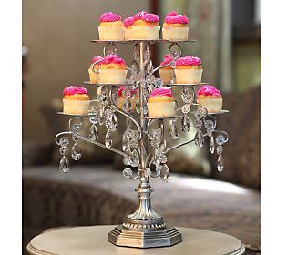 Opulent Treasures 12-Cupcake Holder with Glass Accents