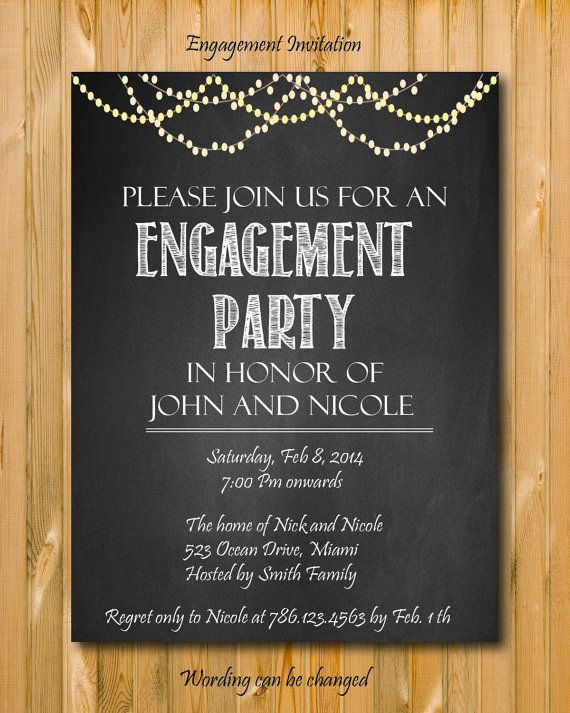 engagement party invitation DIY printable invitation engaged – Engagement Party Invitations Etsy