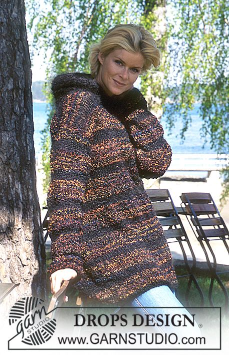 DROPS Pullover in Big Bouclé and Vienna. | knitting | Pinterest ...