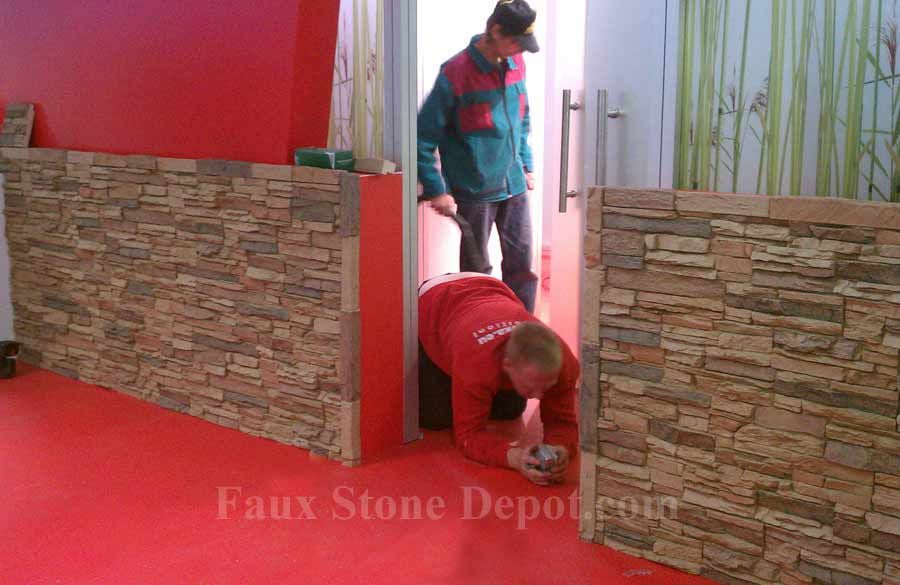 Commercial Application Of Faux Stone Materials Very Easy To Install And Remove Faux Stone Walls Faux Rock Panels Faux Stone