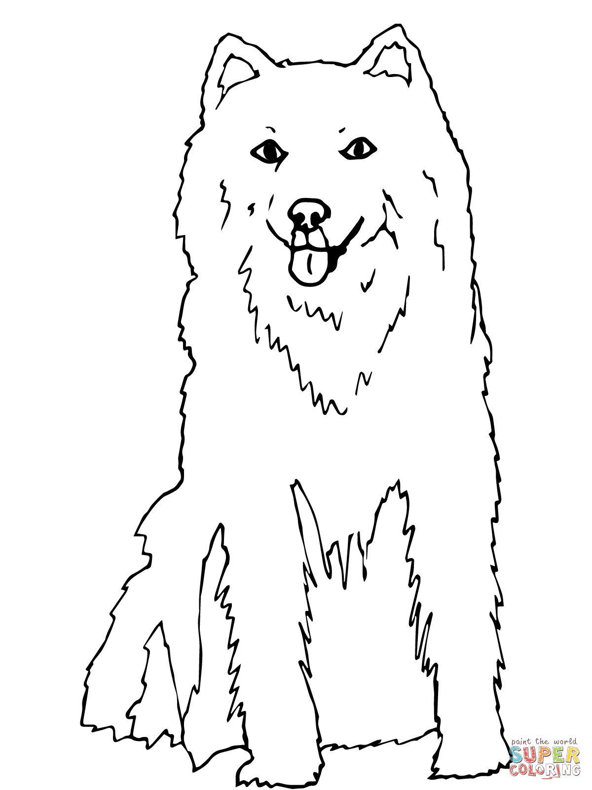 Printable Coloring Page Husky