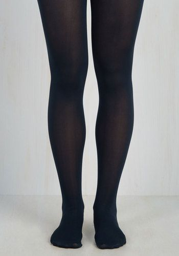 Solid Decision Tights. Youre not one to seek approval, but upon wearing these navy blue tights, the A-OK of every onlooker certainly doesnt hurt your self-esteem! #blue #modcloth