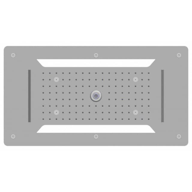 Douche de tête encastrable au plafond XXL- douche de tête en acier