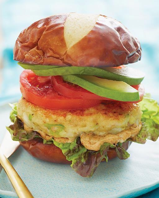 Shrimp Burgers with Old Bay Mayo