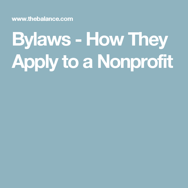 Learn All About The Bylaws For A Nonprofit
