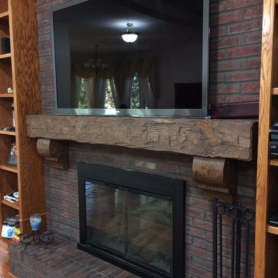 Fireplace Mantel Rustic 6 Foot Hand Hewn Solid Pine 6 By 8 By Etsy Rustic Fireplace Mantels Fireplace Mantels Rustic Fireplaces