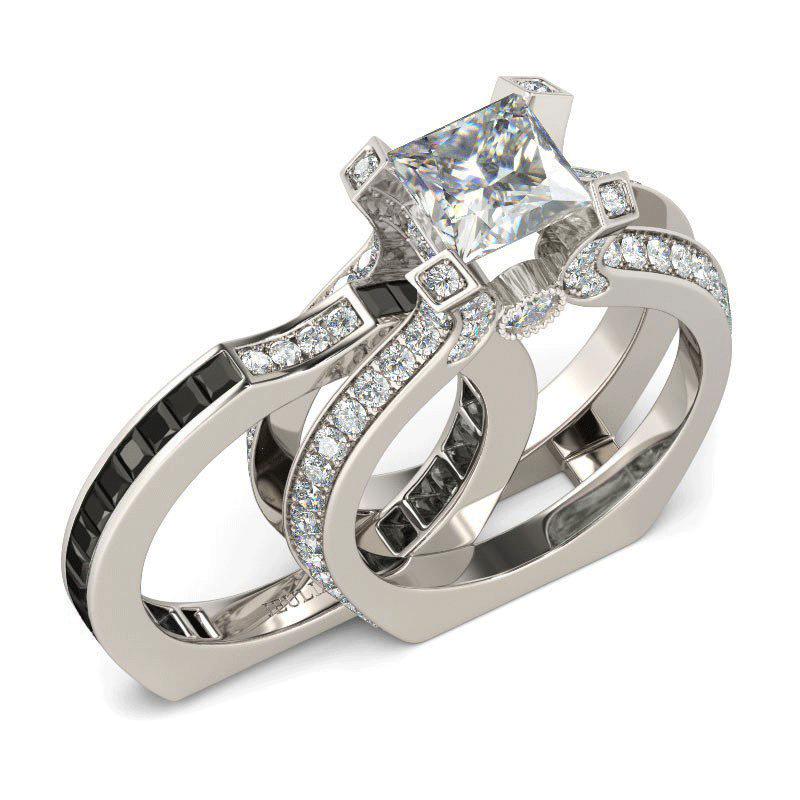 Jeulia Unique Engagement Rings Online Store Including Diamond Engagement  Rings, Diamond Rings, Wedding Ring Sets. Shop Womenu0027s Princess Cut Black  Diamond ...