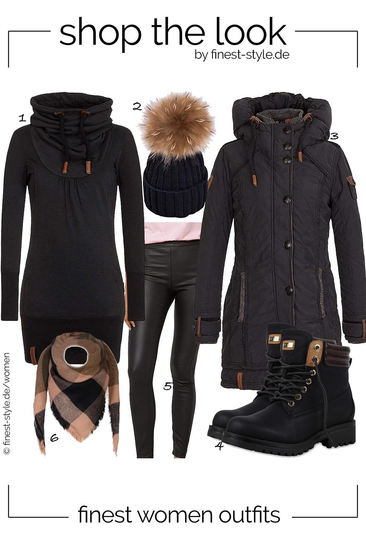 Top modernes Outfit für Damen mit Einzelteilen von