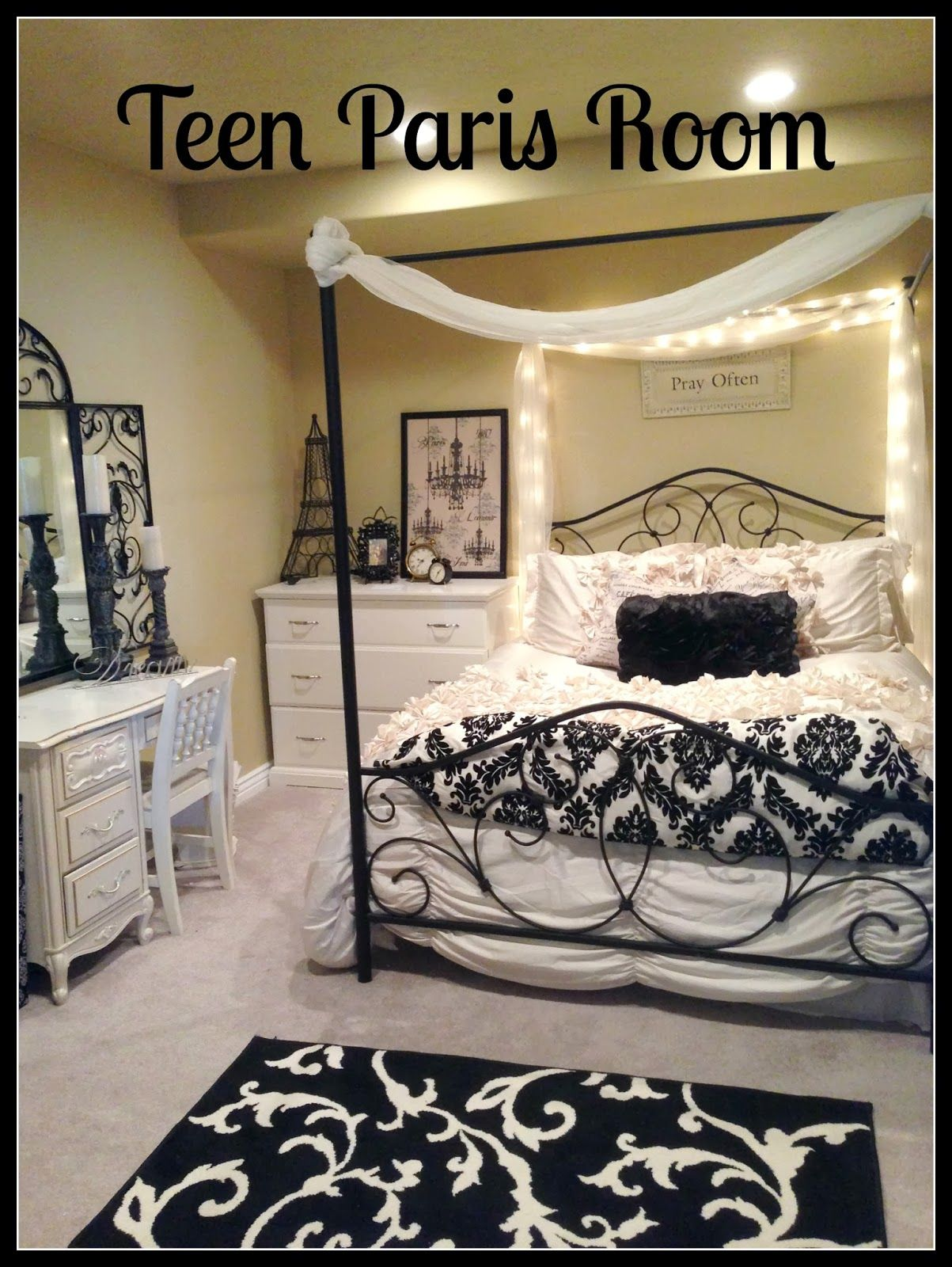 paris bedrooms room diy bedroom wall tower hobby ideas lobby decor themed theme eiffel