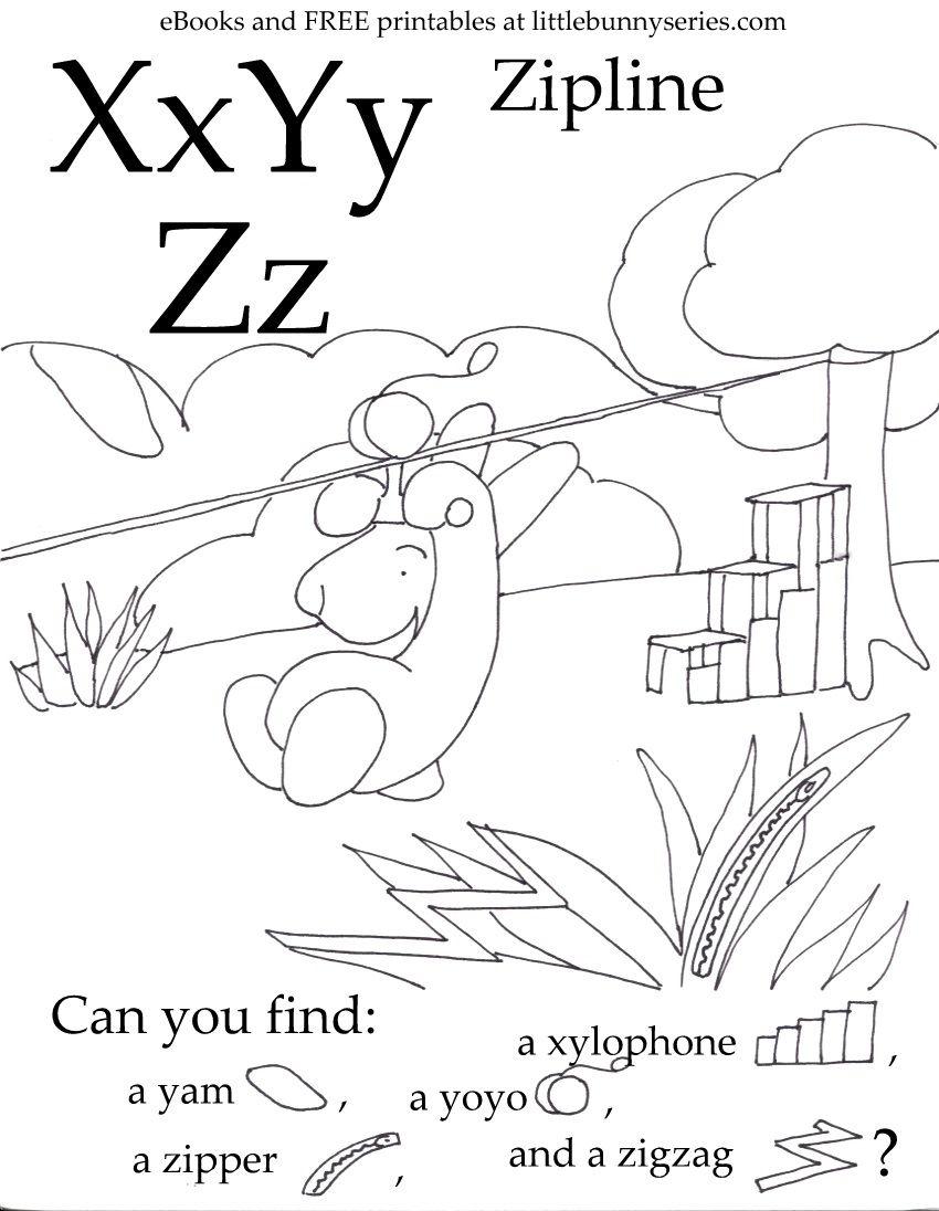 Letters X Y Z Seek And Find Pdf Kindergarten Worksheets Kindergarten Worksheets Printable Preschool Letters [ 1096 x 850 Pixel ]