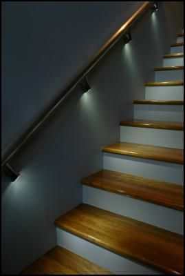 staircase lighting this would be nice for outside stairs also bilder pinterest. Black Bedroom Furniture Sets. Home Design Ideas