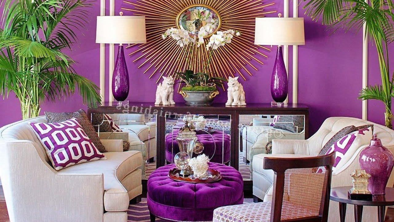 20 Beautiful Purple Living Room Ideas In 2020 Purple Living