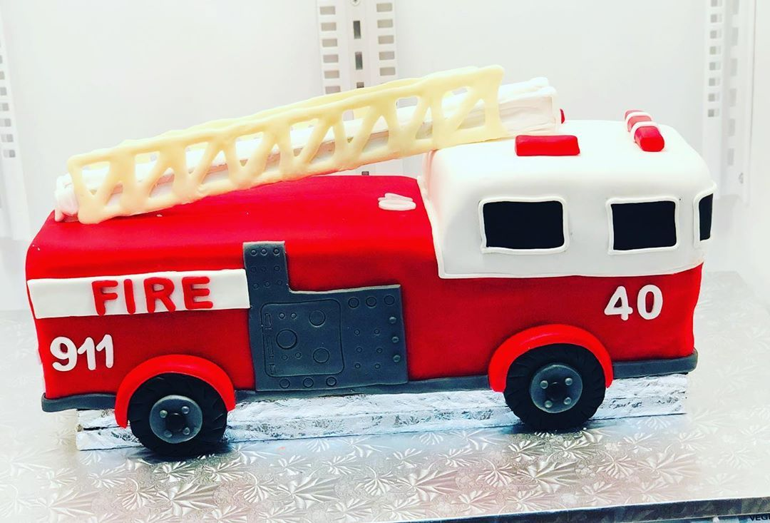 3d Fire Truck Cake This Was A Grooms Cake Loved It Firetruck Firetruckcake Groomscake Marble Raspberry C Firetruck Cake Grooms Cake Cake Decorating