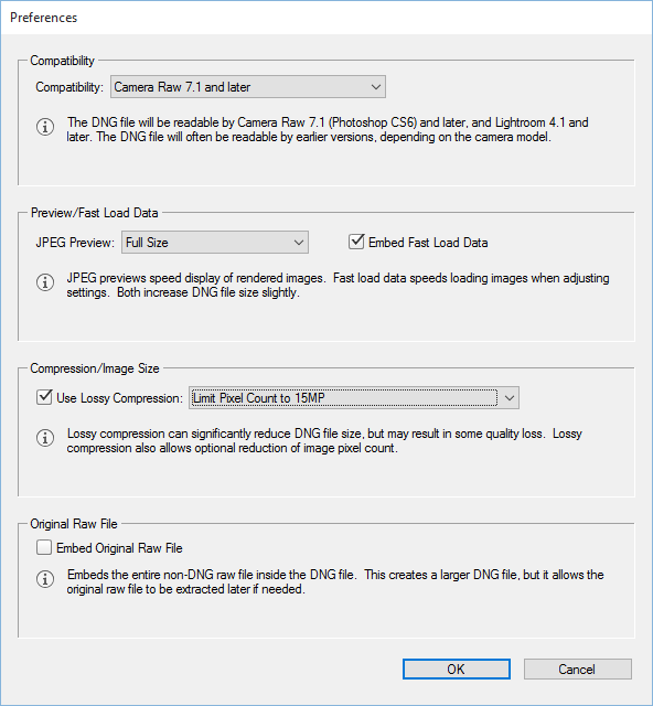 Why is lightroom converting to dng
