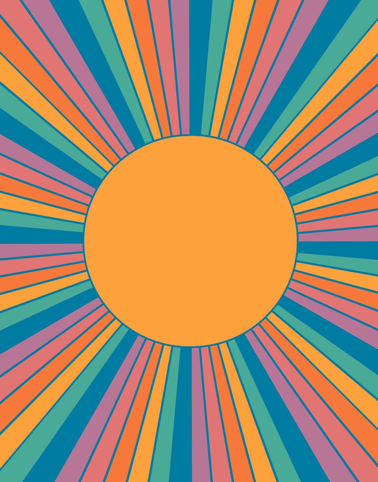 Sunshine State Retro Sunrise Print