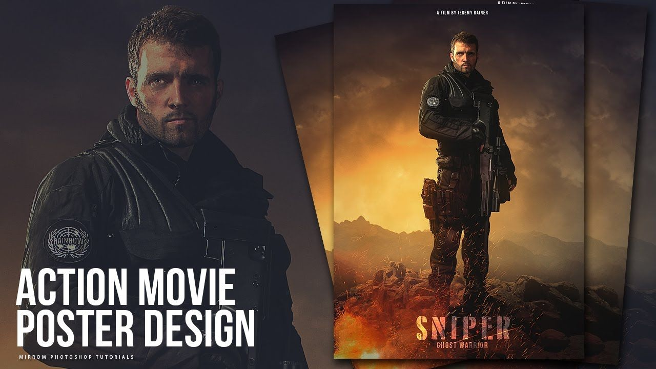 Poster design using photoshop - Create An Action Movie Poster Manipulation Effects Photoshop Tutorial