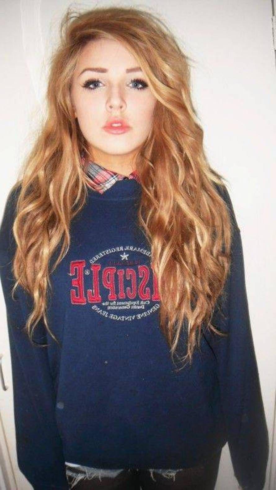 cute wavy casual long hair styles