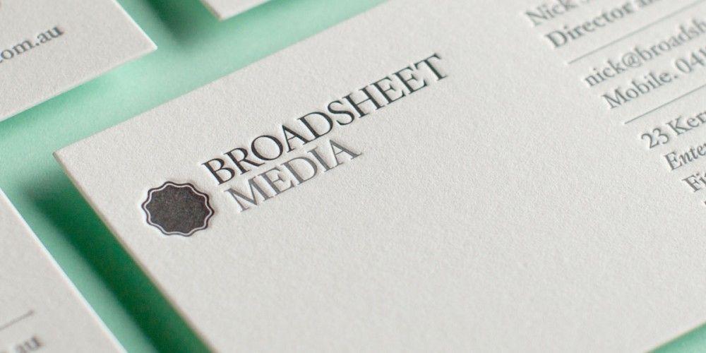Broadsheet Letterpress Business Cards Print Pinterest - letterpress business card